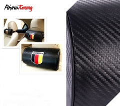 2 Flag of Germany Carbon Fiber Leather Seat Headrests